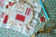 sweet - a little quilting, and a little embroidery by Tasha Noel