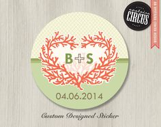 Coral Love Wedding Labels Wedding Stickers - Favor Labels - Return Address Labels