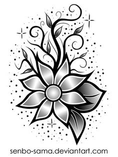 drawings of flowers for tattoos | nice Flower Tattoo Designs pictures (pics), photos and wallpapers