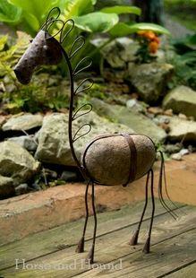 Metal Horse Garden Sculpture