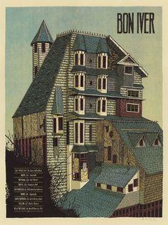 Bon Iver - Gig Posters Illustration by LandLand