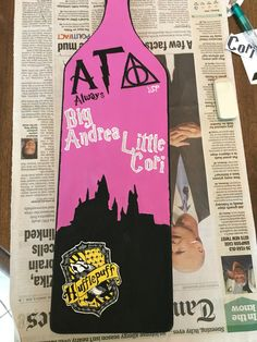 Harry Potter paddle for my little's initiation.