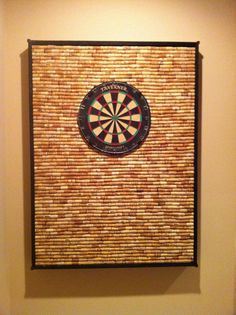 Dartboard -with corks- great idea but I should probably get to drinking a lot more wine! Except have a bigger dart board