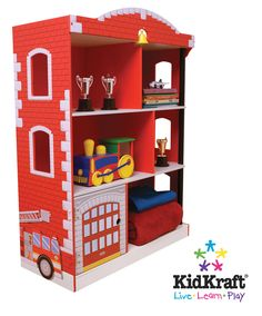 Firetruck room mania, we could make this out of an old entertainment center