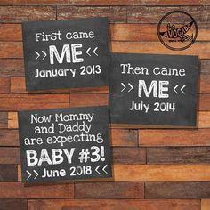 Baby Nummer 3 Schwangerschaftansage Baby 3 druckbare DIY - The Avocado Seed - 3rd Pregnancy Announcement, Third Baby Announcements, Third Pregnancy, Baby Pregnancy, Pregnancy Style, Pregnancy Photos, Women Pregnancy, Surprise Pregnancy, Funny Pregnancy