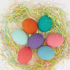 Vibrant shades of weight 4 yarn are used to work up the Easiest Ever Easter Eggs from Red Heart for timeless Easter decor youll use year after year. Easter Egg Pattern, Easter Crochet Patterns, Easter Crafts For Kids, Easter Decor, Easter Ideas, Christian Crafts, Crochet Decoration, Holiday Crochet, All Free Crochet