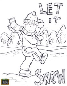Let it snow, let it snow! Free teaching tool - printable Agricultural coloring page for kids. http://farmtimeclassroom.com/