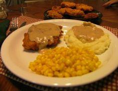 Chicken Fried Chciken with Cream Gravy ... from Mommy's Kitchen