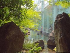 Jardin del Umeda Sky Building en Osaka, Japon