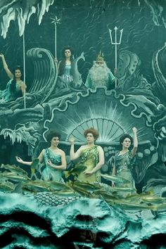 "Mermaids in a scene from the movie ""Hugo"""