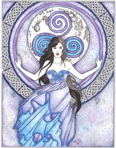 """""""Arianrhod"""" from Goddess and Mythology Coloring book by Selina Fenech Fairies and Fantasy"""