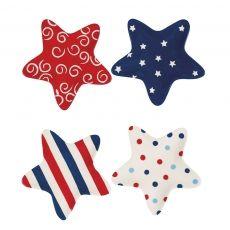 Patriotic Star Shaped Plates