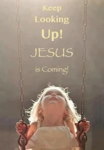 Jesus is coming soon! Jesus is coming soon! Are you ready?? I don't care about the great deception, just keep looking up, he is coming on the white cloud, KEEP LOOKING UP. LOOK UP, LOOK UP. EVEN NOW. LOOK UP. Not with your eyes, but insite of you, do you sense him.