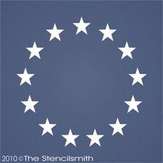 1184 - Betsy Ross Flag Stars-Betsy Ross Flag Stars stencil americana primitive