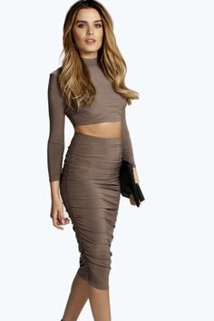 Cara Slinky Ruched Side Midi Skirt. Get sizzling discounts up to 60% Off at Boohoo using Coupon & Promo Codes.