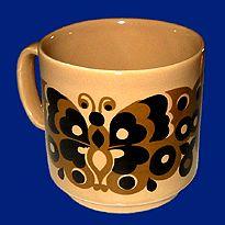 TopKop - Funky Vintage 70's Staffordshire Coffee Mugs