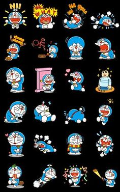 Doraemon is back with animated stickers! This set packs the Anywhere Door and all your other favorite magical gadgets from the future, as well as a healthy dose of the blue robot cat himself and Gian in all their glory. Doraemon Cartoon, Baby Cartoon, Cartoon Pics, Cute Cartoon, Cartoon Characters, Doraemon Wallpapers, Cute Wallpapers, Walpapers Hd, Favorite Cartoon Character