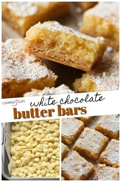 These White Chocolate Butter Bars are a spin on classic Gooey Butter Cake! I've added lots of white chocolate chips that make these bars rich, soft, and creamy with an extra buttery flavor! White Chocolate Recipes, Chocolate Butter, Chocolate Cake Mixes, White Chocolate Chips, Make Ahead Desserts, Just Desserts, Cake Bars, Dessert Bars, Cake Mix Recipes