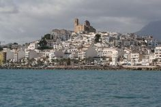 SPAIN........ ALTEA  from the water -  a very touristy town