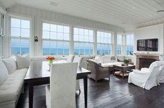 John Hummel builder Sawyer Berson design  Wainscott living room