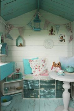 """Before & After: Backyard Shed to """"Small Piece of Heaven"""" Playhouse 