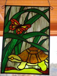 Butterfly & Turtle - Delphi Stained Glass