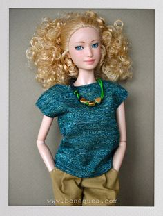 Barbie too cute| Green T-shirt Pattern - bonequea.com