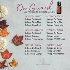 Natural Cleaning Tips with Essential Oils On Guard Essential Oil, Essential Oil Diffuser Blends, Doterra Diffuser, Diffuser Recipes, Doterra Essential Oils, Doterra Blends, Doterra Onguard, Melaleuca, Aromatherapy Oils