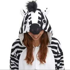 Zebra Kigu | Zebra's are just horses that are ready to party! Kigu onesies are perfect for any fancy dress party!