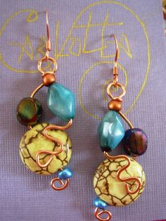 Carlotta Turquois  Dangle Earrings      From CarlottaJewel