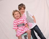boys Easter shirt, Easter chevron tie shirt, Sibling Easter outfit. $35.00, via Etsy.