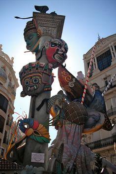 Falla in Valencia, Spain during Las Fallas 2012