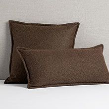 Italian Wool Pillow Cover - Brown