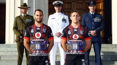 NZ Warriors rugby league team unveiled their ANZAC tribute shirts today!
