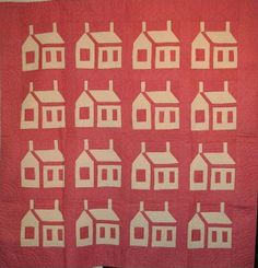 THIS OLD HOUSE ANTIQUE QUILT reverse coloration