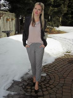loving the silky draw string pant trend for spring
