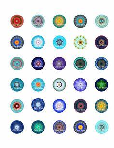 Moderno Mandala círculos instantánea descargar