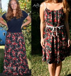 DIY skirt to dress. Good to know because I see a ton of skirts at Goodwill!