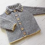 Baby top down seamless jacket P058 - via @Craftsy