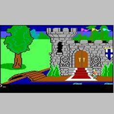 In 1984, Sierra On-Line released the first in their King's Quest adventure games series. I didn't get to try it out until we got our first PC computer in the late '80s. Here is a screen-shot of Kings Quest 1.