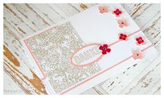 {Karte #8/2015} Something Lacy... eine Dankeskarte in Kirschblüte & Rosenrot - Papers & Stamps #stampinup #sab2015 #somethinglacy #wiedubist