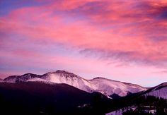 What was your new year's #resolution? To escape to the #mountains more? Log more days on your #skis or board? Go on more #mountain #adventures? Head to Winter Park Colorado! #colorado #sunset #doit