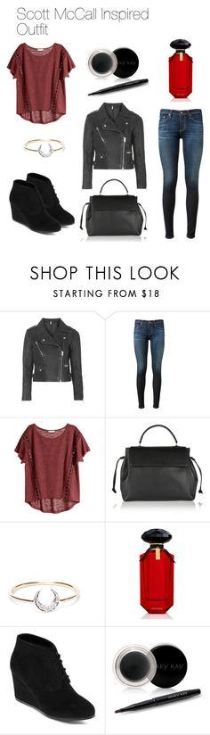 Scott McCall Inspired Outfit by thebanshee24 on Polyvore featuring H&M, Topshop, AG Adriano Goldschmied, Arizona, Lanvin, I+I, Mary Kay and Victoria's Secret