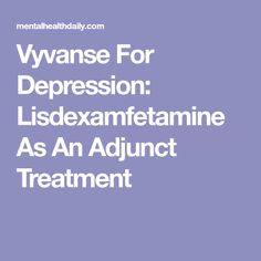 Rebound adults and vyvanse