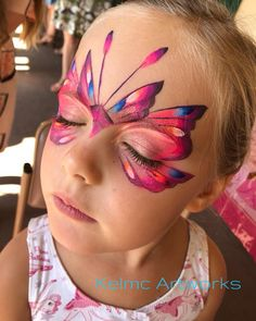 Butterfly face paint design Butterfly face paint design Butterfly face p… – Mascerade/Schminken/facecolour – epaint Face Painting Tips, Adult Face Painting, Face Painting Designs, Paint Designs, Body Painting, Face Paintings, Painting Tutorials, Butterfly Face Paint, Butterfly Makeup