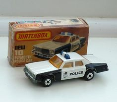 Matchbox Superfast 10C Plymouth Police Car Boxed