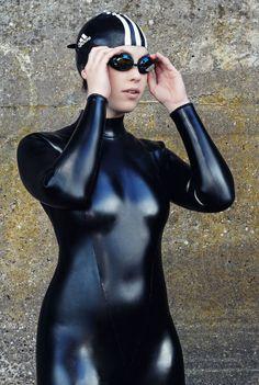 ~Sensual Fetish~ suit up in latex swimsuit