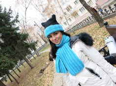 Hat and scarf set is connected with thick от AllForHappyAndLove $ 82,87