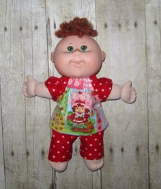 Cabbage Patch Newborn Doll Clothes  Strawberry by Dakocreations