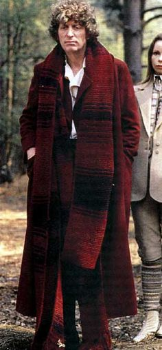 "Tom Baker and ""one of the scarves""."